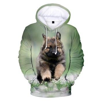 Creative German shepherd 3D Hoodies Sweatshirt Popular German police dog Hoodie Canis lupus familiaris Casual Funny Cool Tops canis xl