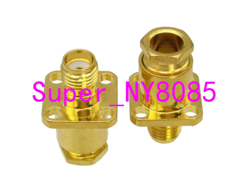 Connector SMA Female Jack 4-holes Flange Clamp RG58 RG142 LMR195 RG400 Cable
