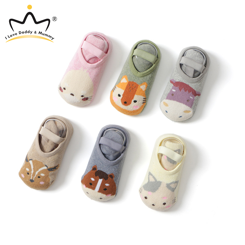 Cute Cartoon Animal Non Slip Newborn Baby Shoes Soft Cotton Rubber Sole Toddler Shoes Baby Boy Girl First Walkers Girls Boys