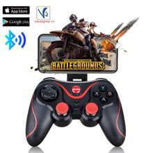 Controle bluetooth t3 sem fio, joystick bluetooth, controlador de jogo bt3.0, celular, ps3, pc, android, tv box