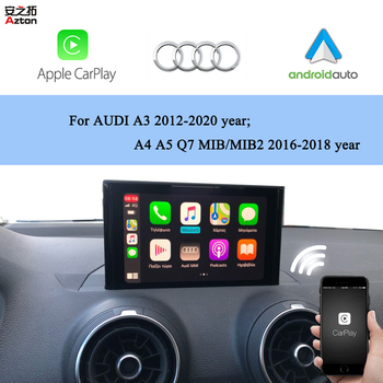 AZTON Wireless Apple CarPlay Module For AUDI A3 8V 8P 2012-2020 Android Auto iPhone CarPlay Box Rear Front Camera Interface image