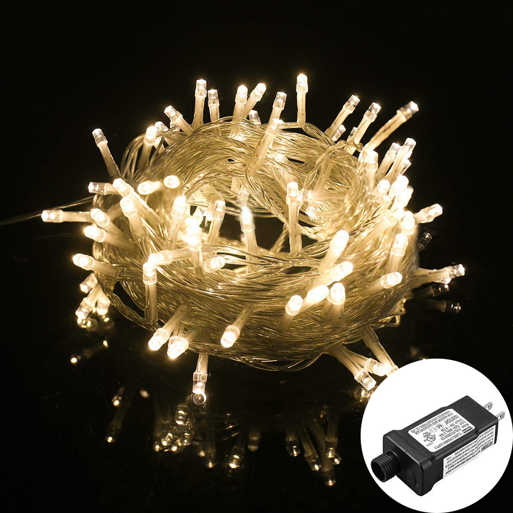 Twinkle Star 10M 100 LED String Lights With 24V Low Voltage Transformer Waterproof Christmas Tree Wedding Party Garland Light