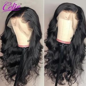 Image 5 - Celie Haar HD Transparent Spitze Perücke 180 250 Dichte Spitze Front Menschliches Haar Perücken Körper Welle Perücke Für Schwarze Frauen menschliches Haar Perücken