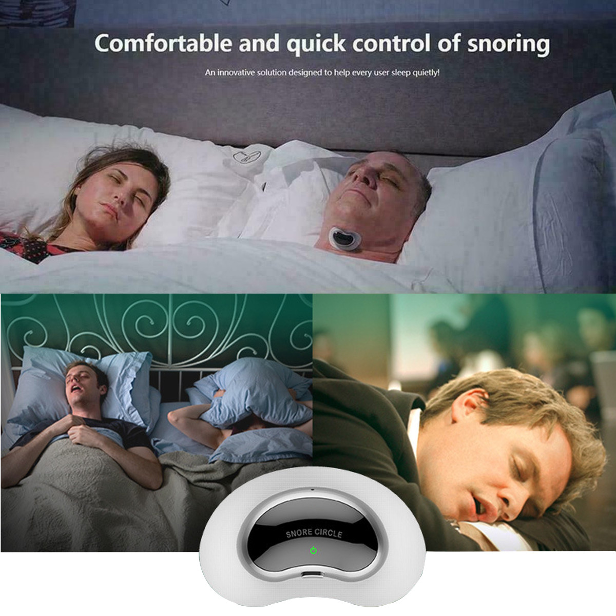 Novo inteligente ronco stopper parar ressonar biosensor anti ronco sleep aid com app e monitor de sono dispositivo de ajuda cpap replacer - 3