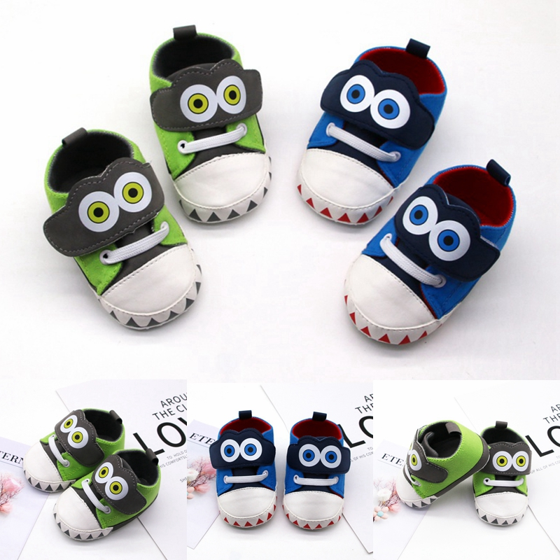 New Canvas Sports Sneakers Newborn Baby Boys Girls First Walkers Shoes Cartoon Infant Toddler Soft Sole Anti-slip Baby Shoes