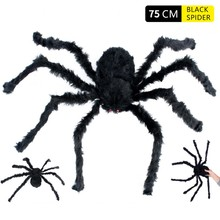 Get more info on the 30/50/75cm Plush Spider Made Halloween Decoration Halloween Spoof Extra Large Spider Party Decoration Simulated Spider Decor