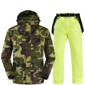 Image 4 - Camouflage ski jacken und hosen frauen ski anzug snowboard kits sehr warme winddicht wasserdichte winter im freien kleidung
