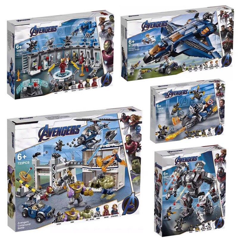 2019 avengers 4 legoinglys endgame 76107 76108 76123 76125 76126 76131 final quinjet conjunto avengers blocos de construção tijolos brinquedos