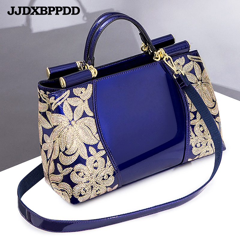 Women Bags Shoulder Handbags Large Capacity Women's Handbags Shoulder Messenger Bags Floral Luxury Genuine Leather  Bag