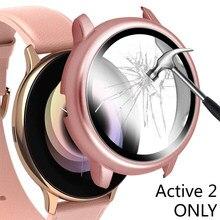 Protector de pantalla de vidrio templado para Samsung Galaxy Watch Active 2, película protectora de pantalla de 40mm, 44mm, 40 y 44mm