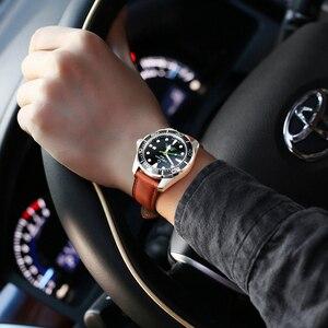 Image 5 - MAIKES Hakiki Deri saat kayışı 20mm 22mm 24mm Erkekler için Watchband Paslanmaz Çelik Toka Ile saat kayışı Casio Fosil