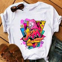 Футболка jem и голограмма для женщин модная женская футболка