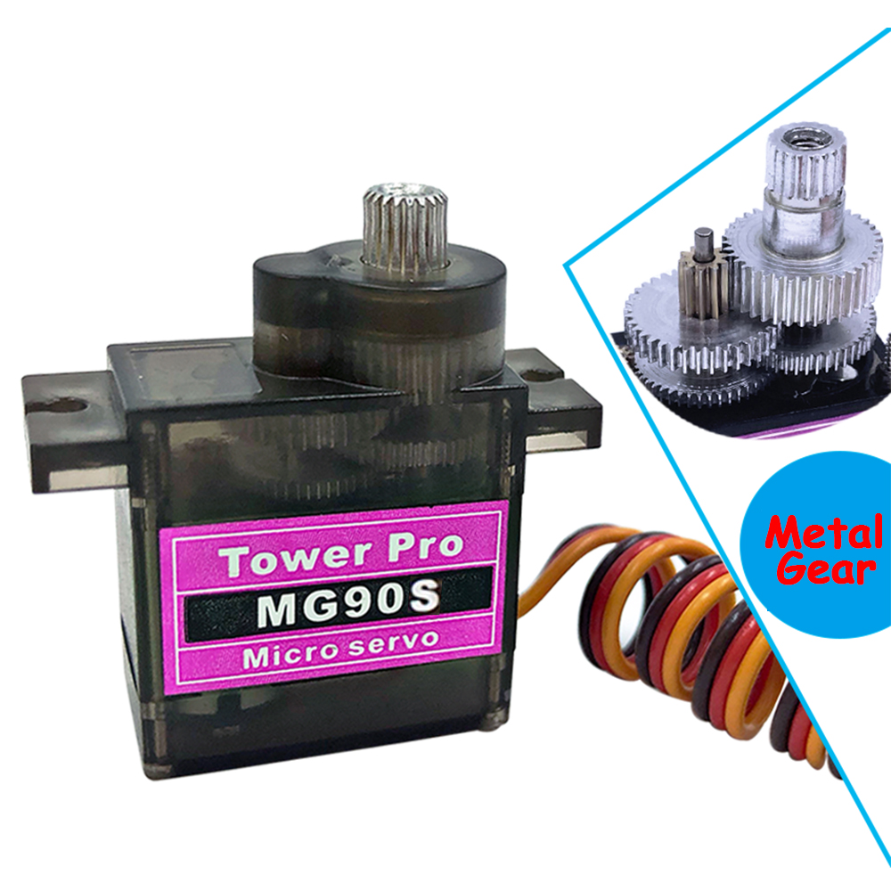 RC Servo MG90S Tower Pro mini Metal Gear Digital 9g Servo SG90 For Rc Helicopter Plane Boat Car 9G Trex 450 RC Robot Helicopter