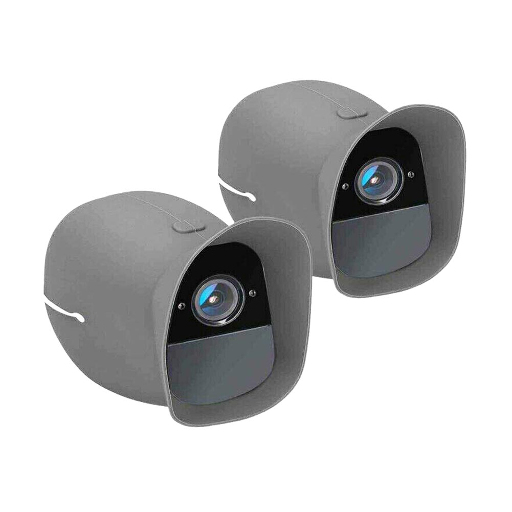 2 Pcs Protective Cover Durable Wireless Camera Silicone Soft Removable Outdoor Anti Scratch Skin Security For Arlo Pro
