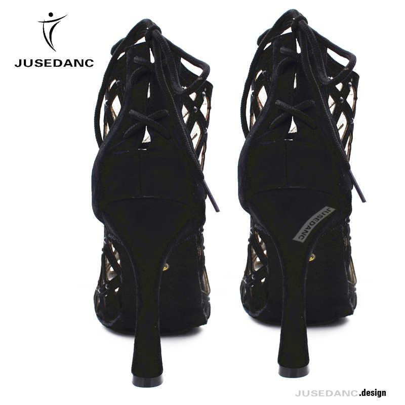 أسود حذاء للرقص s امرأة أحذية الرقص اللاتينية النساء قاعة حذاء للرقص s اللاتينية الكعوب تانجو حذاء للرقص JuseDanc