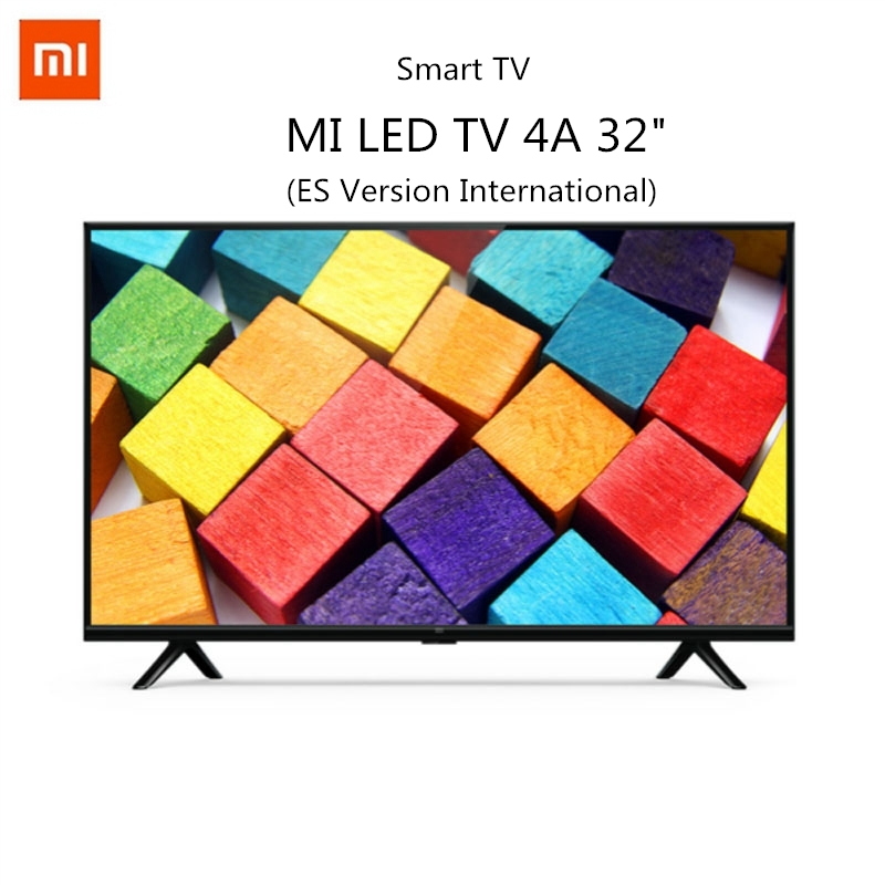 Xiao mi TV HD Smart TV 4A ES Version HDR 32 pouces 1.5 + 8 go commande vocale 2.4G 5G WIFI bluetooth 4.2 Android 9.0 International