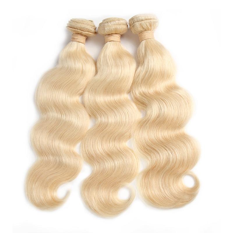 Ali Queen Hair Brazilian Remy Human Hair Weaves Bundles #613/#33/#30/#27/#99J/#BURG Body Wave 1/3/4Pcs Human Hair Extension
