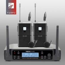 RU-D220 реальный UHF выбор регулируемый микрофон Беспроводная профессиональная система Lavalier Клип гарнитура микрофон