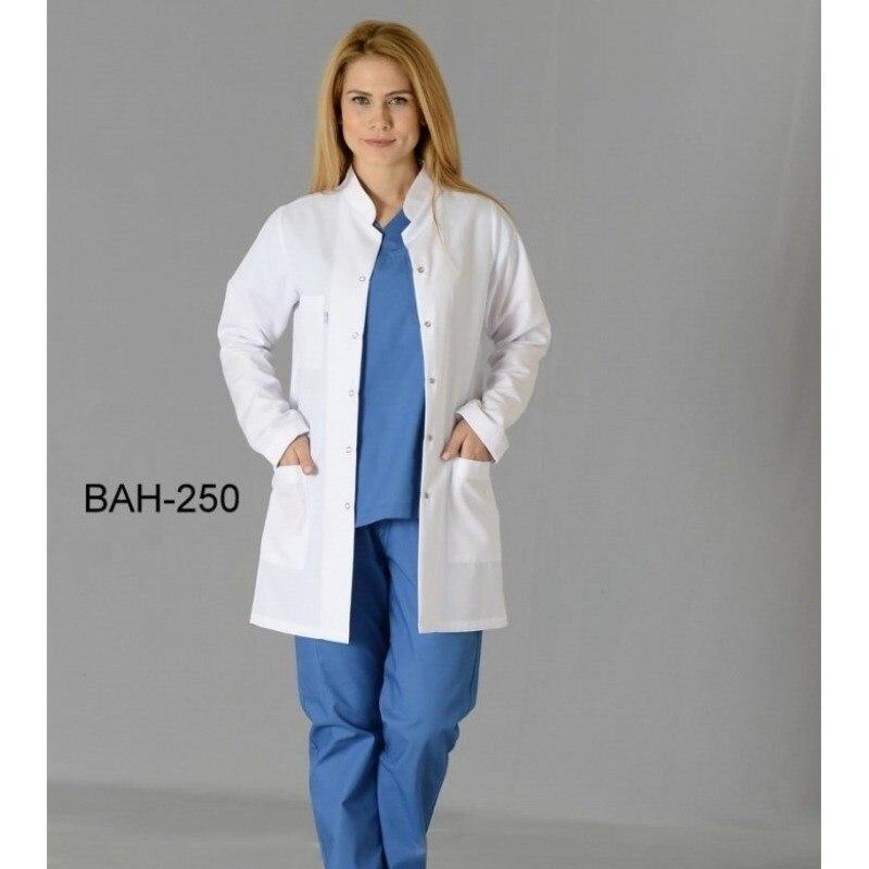 Women Short Sleeve White Lab Coat Men Women Lapel Collar Button Down Medical Doctor Blouse With Pockets Doctor Nurse Uniform
