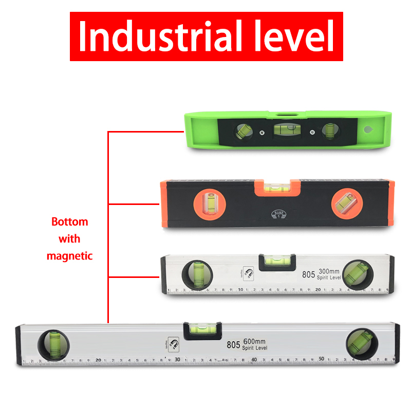 High Precision Spirit Level Magnetic High Bearing Ruler Lever Bubbles Rustproof Horizontal Ruler Spirit Level  Balance Ruler