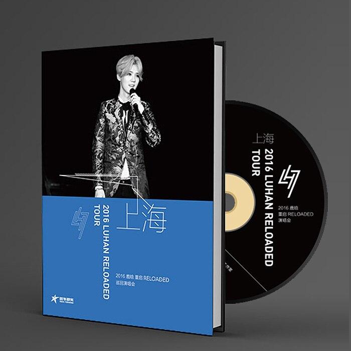 LUHAN เพลง DVD Reloaded 2016 Tour Live in เซี่ยงไฮ้,DVD + โปสการ์ด บน   1