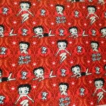 Dos desenhos animados sexy lady betty polyster tecido de algodão para toalha de mesa costura estofando tecidos bordado material diy feito à mão