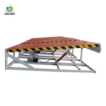 Hydraulic dock yard ramp container car loading ramp