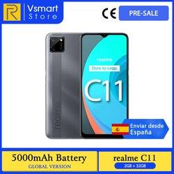 Глобальная версия Realme C11 смартфон 2 Гб оперативной памяти, 32 Гб встроенной памяти, 6,5 Дюймов Мини-капля Экран 13MP двойные задние камеры Helio G35 мо...