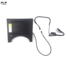1Set En Plastique ABS QI 15W Charge RAPIDE Chargeur Sans Fil De Voiture Pédale Support Pour Téléphone Pour 2014 2019 HONDA HR V HRV VEZEL
