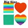 Большой Размеры Popsits игрушечный кубик для пуш-ап пузырь аутизма потребности мягкими антистресс ослабитель сенсорные игрушки для взрослых и...