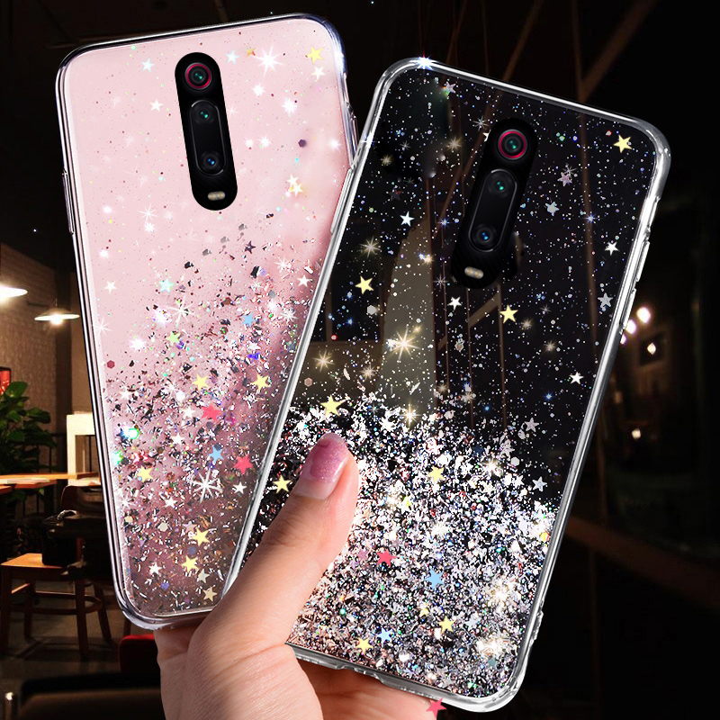 LOVECOM Gradient Bling Glitter Phone Case For Redmi K20 7 Note 7 8 Pro Note 6 Xiaomi 8 Explore 8 Lite 8 9SE Soft Back Cover 1