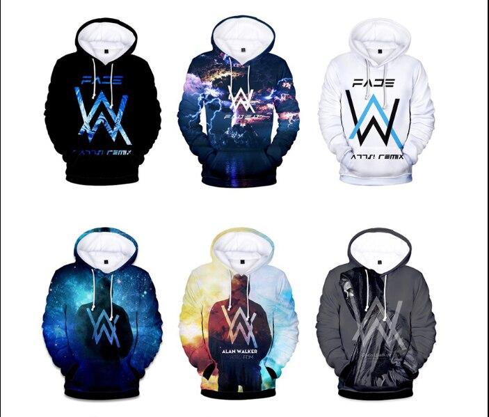 Alan Walker DJ Cosplay Men/Women Sweatshirt Hooded 3d Brand Clothing Cap Hoody Thin Unisex Pullovers Tops Jacket