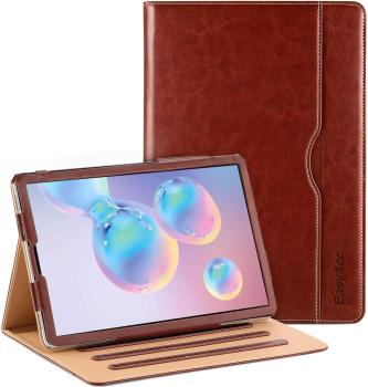 EasyAcc Leather Case for Samsung Galaxy Tab S6 S5e with Pen Holder Premium PU Leather Multi-angle Stand Function Auto Wake Sleep