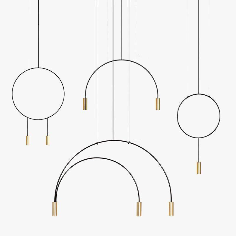 Nordique design magasin de vêtements ligne salon salle à manger bar chambre café boutique estiluz lustre noir