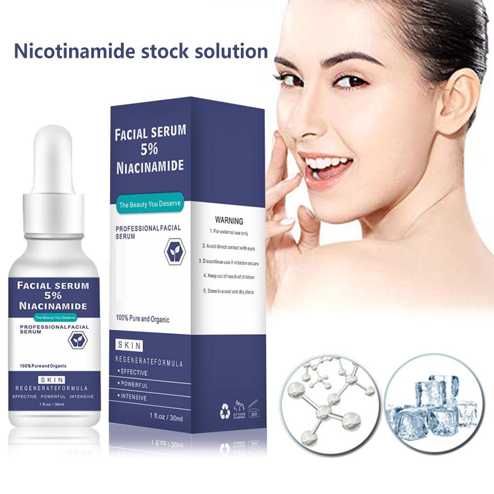 30ML Facial Essension Serum Niacinamide Solution Vitamin B3 Pore Shrinking Skin Whiten Complexion Brighten Essence Face Care