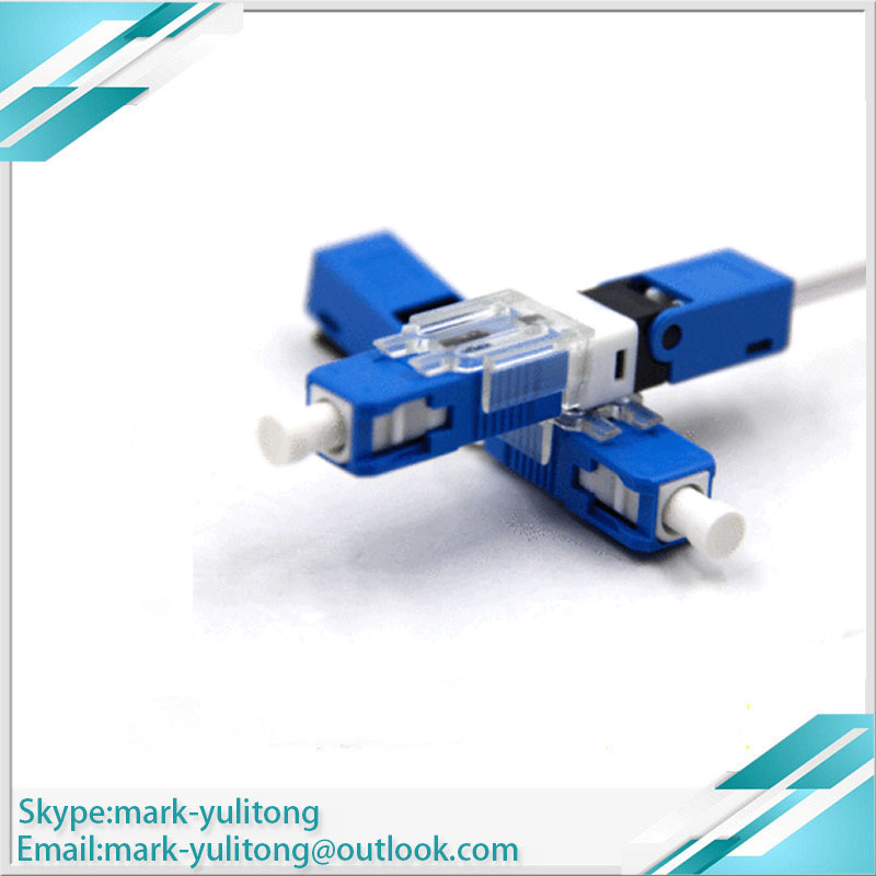 100PCS FTTH SC UPC ESC250D Optical Fibe Quick Connector SC PC FTTH Fiber Optic Fast Connector Embedded Type  SC Connector