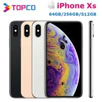 "Apple iPhone Xs 5.8"" RAM 4GB ROM 64GB/256GB/512GB Original Mobile Phone LTE Hexa Core Dual 12MP iOS12 Face ID NFC A12 Bionic 1"