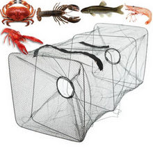 High quality shrimp net spring cage fish net fishing net mud squid net fish net squid cage medium cage + floating ring(China)