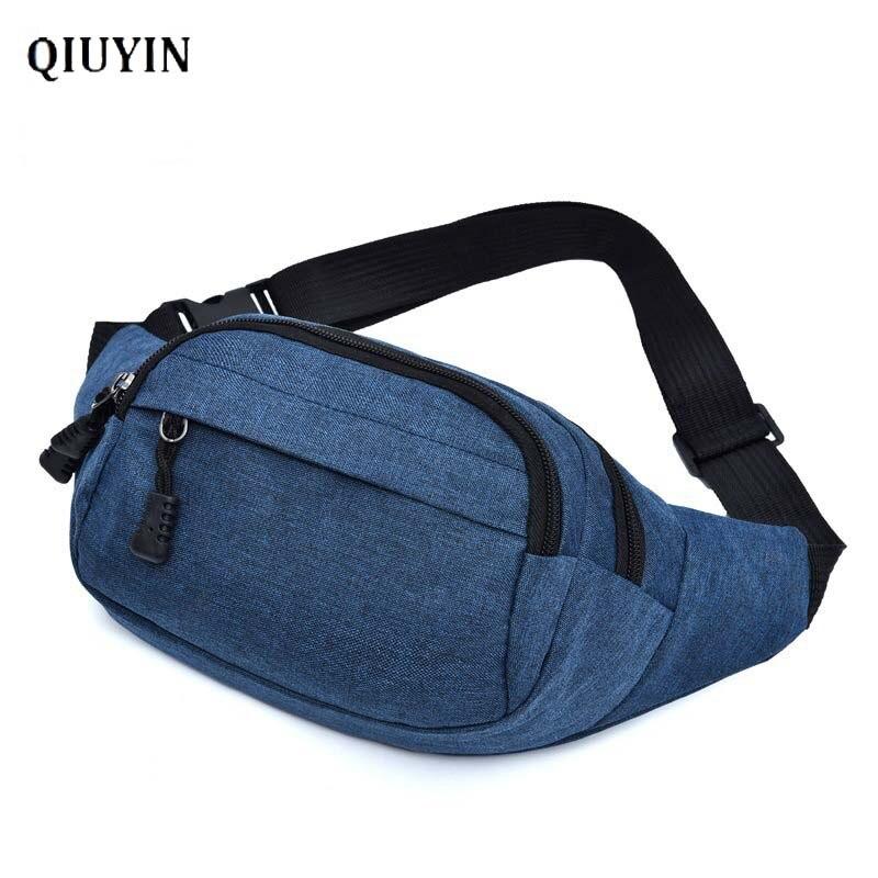 Qiuyin Luxury Chest Women's Waist Bag Belt Fanny Pack Fanny Pack Bum Pouch Round Phone Bag Belt Supreme Nylon Oxford Cloth Purse
