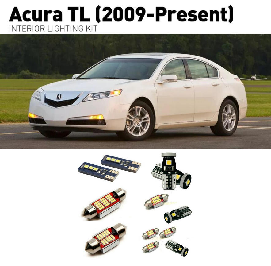 Led interior lights For <font><b>Acura</b></font> <font><b>TL</b></font> <font><b>2009</b></font> 12pc Led Lights For Cars lighting kit automotive bulbs Canbus image