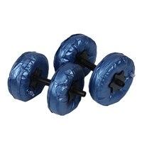 2Pcs/Set Portable Adjustable Water Filled Dumbbell 5 10Kg Pvc Dumbbell Yoga Bodybuilding Water Park Gym Barbells Fitness Workout
