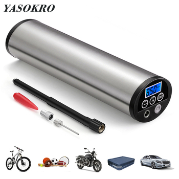 YASOKRO Tire Inflatable Pump Tyre Inflator Mini Portable Air compressor 12V 150PSI Rechargeable Air Pump for Car Bicycle balls