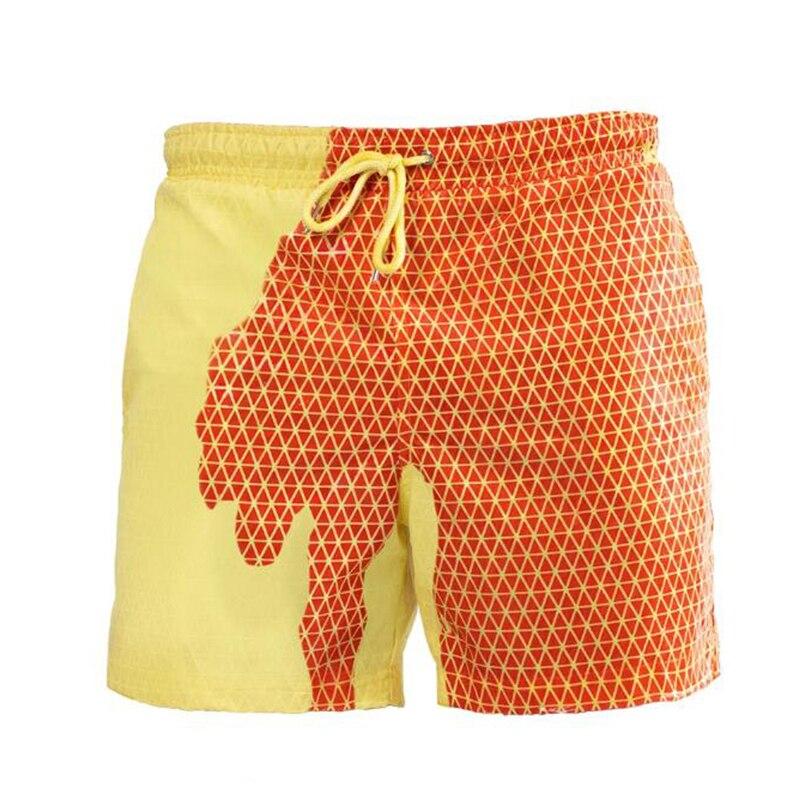 Secagem rápida natação cor-mudando praia shorts menino