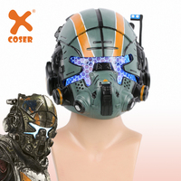 XCOSER Brand New Titanfall 2 Jack Cooper Helmet Game Cosplay Full Head Mask Men Cool Party Cosplay Props Helmet With LED Light