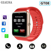 GT08 Smart Watch For Apple Men Women Android Wristwatch Electronics Smartwatch With Camera SIM TF Card PK Y1 X6 A1