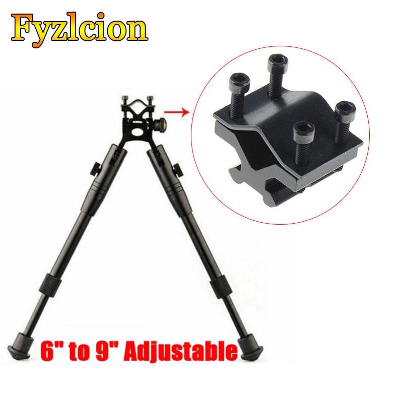 1PCS Tactical Adjustable Laser Sight Torch Barrel Tube Mount 20mm Picatinny/weaver Rail Tactical Rifle Bipod