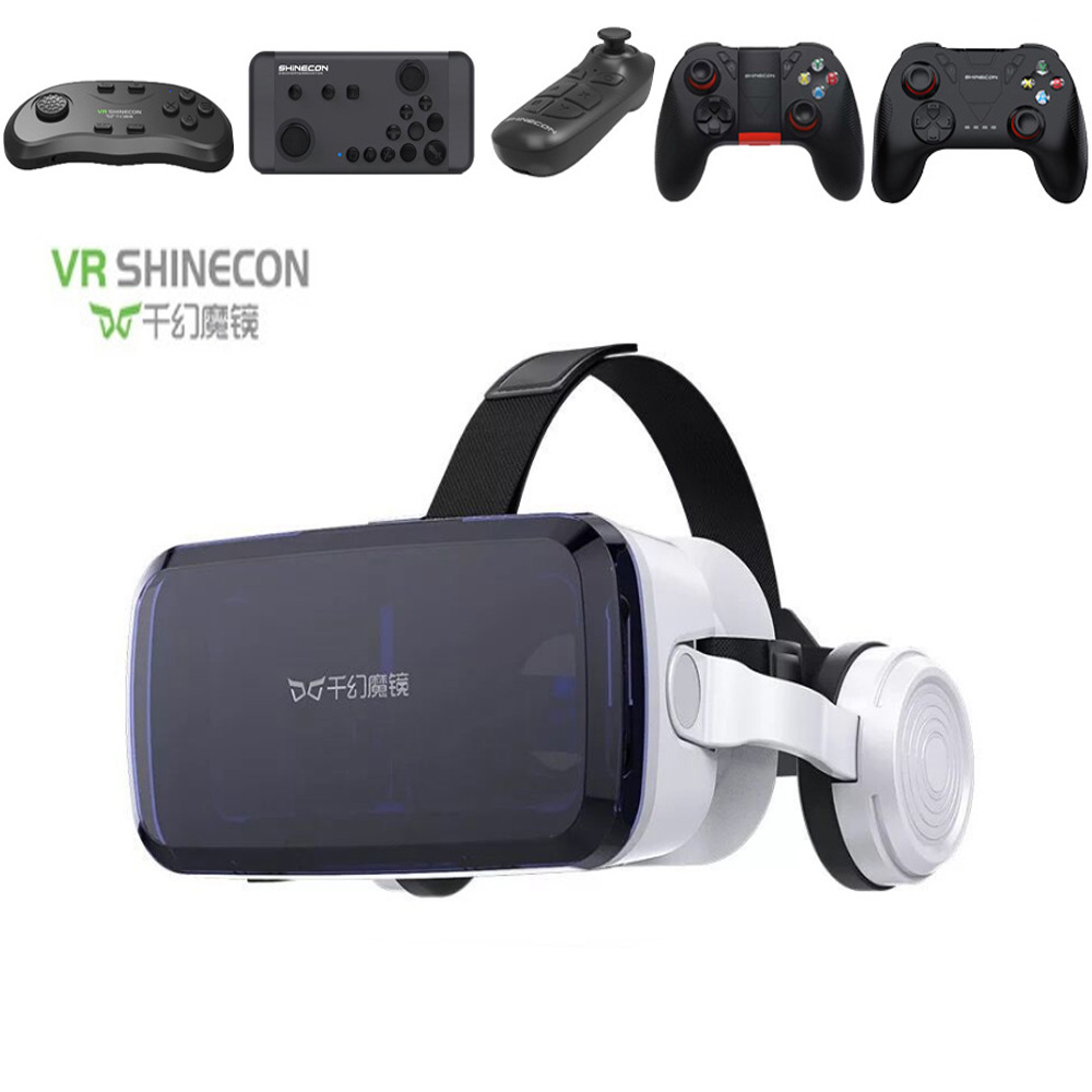 Virtual Reality Headset 3D VR Glasses TTV Box VR SHINECON for TV Movies Video Games for iOS Android Phones Within 3.5-6.0 inch image