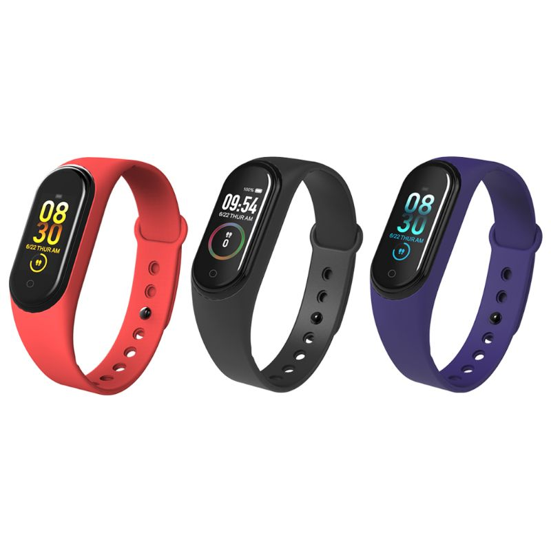 M4 Colorful Screen Smart Bracelet Heart Rate Blood Pressure Sleep Monitoring Fitness Tracker USB Direct Charging Health Sports in Smart Wristbands from Consumer Electronics