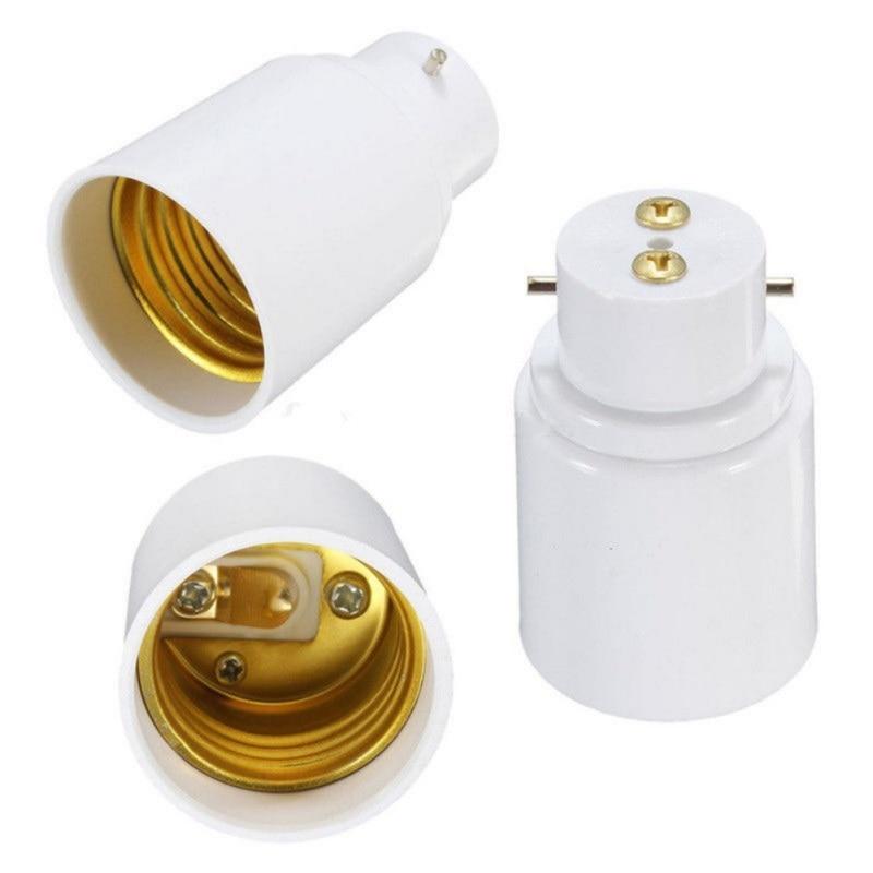 1x B22 To E27 Base Converter Adapter Socket Change Base LED Light Lamp Bulb Fireproof Holder