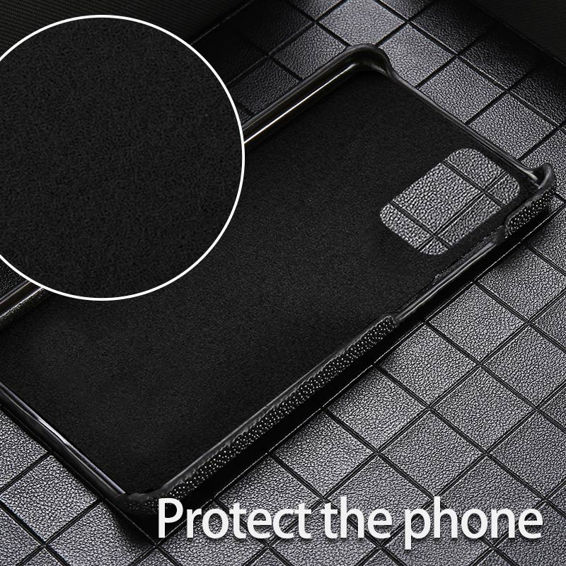 LANGSIDI Luxury stingray phone case For samsung S20 S20+ plus S10 10+ s9 s8 Genuine leather cover For Galaxy s20 Ultra note 9 10